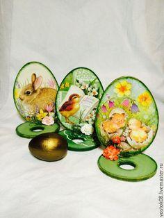 Купить Подставка под яйцо - зеленый, желтый, подставка под яйцо, подставка для яиц