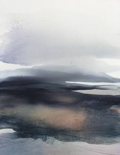 """Saatchi Art Artist Sabrina Garrasi; Painting, """"And the wind caressed the land... / Abstract Watercolor Landscape"""" #art"""