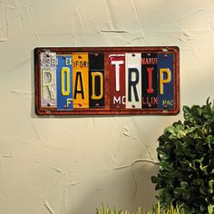 License Plate Wall Sign - TerrysVillage.com