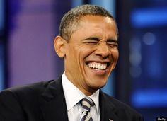 Obama cracking up