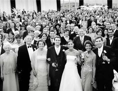 One shot that's totally mantel-worthy? A panoramic wedding portrait where every single wedding guest is in the photo.