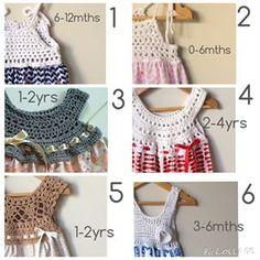 Crochet yolk and fabric dress