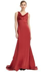red bridesmaid dresses with cowl neck - Google Search