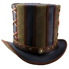 Steampunk Hats, Steampunk Top Hats, and Steampunk Riding Hats by Medieval Collectibles pinned with Bazaart