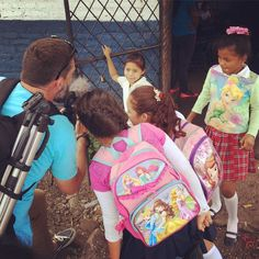 """A little """"behind the scenes"""" action to brighten your Wednesday!  #iEnrich #Nicaragua #education #love #happy #ashley"""