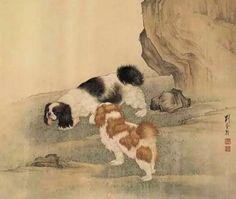 #paintingdogs #chinesewatercolordogs #asianbrushpaintingdogs