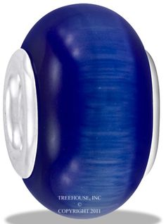 Da Vinci Beads Art Glass Blue Cat Eye
