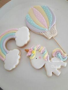New cupcakes unicornio betun Ideas Super Cookies, Baby Cookies, Baby Shower Cookies, Easter Cookies, Birthday Cookies, Fun Cookies, Rainbow Sugar Cookies, Sugar Cookie Royal Icing, Cookies Fondant