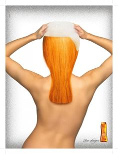 beer shampoo? well good art direction though