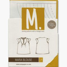 compagnie m mara blouse pattern cover