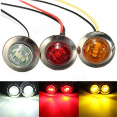 Buy LED Side Marker Light Clearance Indicator Bezel Lamp Truck Trailer Caravan at Wish - Shopping Made Fun 12v Led, White Lead, Red And White, Light Bulb Lamp, Goods And Service Tax, Car Lights, St Kitts And Nevis, Light Colors, Markers