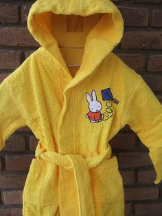 Hooded kids bathrobe with Miffy embroidery by ADYALI on Etsy 5b4fff003