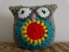 Kids toy/ Crochet Owl Toy for Tots /stuffed owl/Eco por LittleDoLah