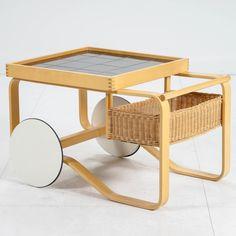Alvar Aalto, tarjoiluvaunu, nro 900. Alvar Aalto, Bassinet, Bed, Furniture, Home Decor, Crib, Decoration Home, Stream Bed, Room Decor