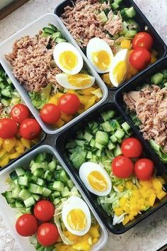 20 Quick and Easy Salads You're Going to Want to Meal Prep Every Sunday - The BEST Meal Prep Recipes - Salad Recipes Healthy Easy Cooking, Healthy Cooking, Healthy Eating, Cooking Recipes, Cooking Games, Best Meal Prep, Meal Prep For The Week, Easy Salads, Healthy Salad Recipes