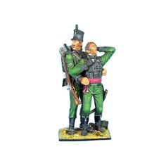 First-Legion-NAP0291-British-95th-Rifles-Corporal-Helping-Wounded-Officer-Vigne