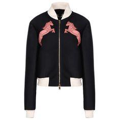 Elgin Bomber Jacket Stella McCartney ($1,955) ❤ liked on Polyvore featuring outerwear, jackets, stella mccartney jacket, stella mccartney, bomber style jacket, blouson jacket and flight jacket