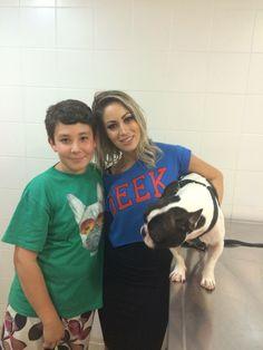 My son and Celebrity Carol Narizinho
