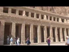 is located beneath the cliffs at Deir el Bahari on the west bank of   the Nile near the Valley of the Kings in Egypt.
