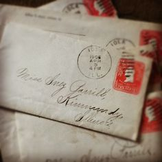Old Letters  Ephemera    Snail Mail Snail And Ephemera