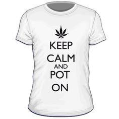 Maglietta personalizzata Keep Calm and Pot On