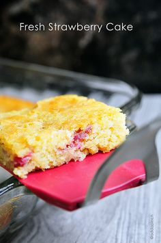Super Moist Melt In Your Mouth Fresh Strawberry Cake Recipe !!