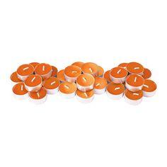 SINNLIG Duftende telys IKEA Skaper god stemning med en behagelig duft av søt mandarin og en varm glød fra lyset.