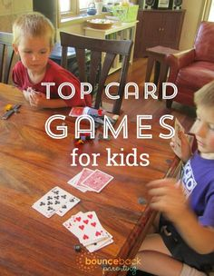 Good List of the Best Card Games for Kids - These card games offer the perfect quick connection activity with my kids.
