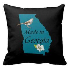 Georgia Square Throw Pillow