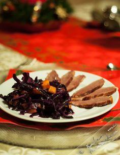 Kochen mit Herzchen - ♥ Mein Koch-Tagebuch mit viel Herz ♥: Geräucherte Geflügelbrust an Rotkohl-Salat mit Man...