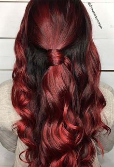 63 Hot Red Hair Color Shades to Dye for: Red Hair Dye Tips & Ideas Orange Ombre Hair, Magenta Hair Colors, Ombre Blond, Dyed Red Hair, Red Hair Color, Hair Color Balayage, Balayage Hairstyle, Hair Dye Shades, Shades Of Red Hair