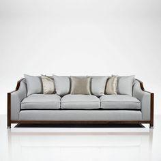 Grosvenor Show Wood 3 Seater Sofa | Luxury Gifts & Homeware, Furniture, Interior Design, Bespoke
