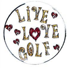 Live Love Golf Glitzy Ball Marker with Hat Clip