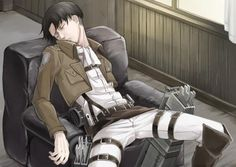 "*Fallen asleep on the chair after I'd returned from a mission,tired and exhausted from all the running and stuff*""...nh~..."""