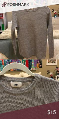 H&M Sweater Grey David Beckham H&M collection Sweater... never worn H&M Sweaters Crewneck