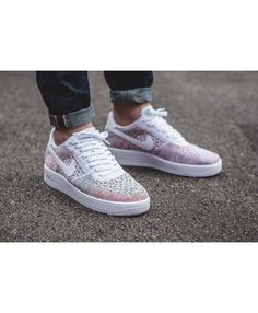 d067dff20366 Womens Nike Air Force 1 Ultra Flyknit Low White Multicolor Shoe