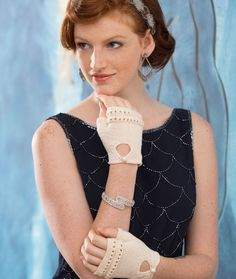Modern Sophisticated Glovelets Free Knitting Pattern from Aunt Lydia's Crochet Thread