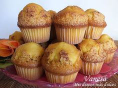 Magdalenas de calabaza Flan, Thermomix Desserts, Muffins, Love Eat, Sweet And Salty, Pumpkin Recipes, Cupcake Recipes, Sweet Recipes, Breakfast Recipes