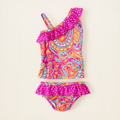 baby girl - swimwear - Scoop shoulder tankini | Children's Clothing | Kids Clothes | The Children's Place