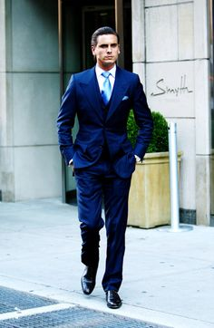 Love Blue, Love Scott Disick love the Smyth TriBeCa Sharp Dressed Man, Well Dressed, Lord Disick, Scot Disick, Scott Disick Style, Star Fashion, Mens Fashion, Fashion Suits, Men's Business Outfits