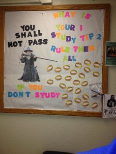 Lord of the rings study tips Ra bulletin board