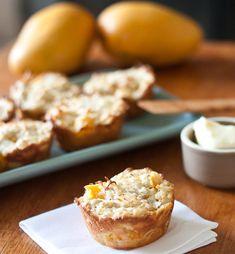 Coconut Mango Muffins - no sugar!