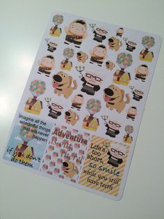 Up up and Away Stickers for your Erin Condren Life Planner, Plum Paper Planner, Filofax, and more!