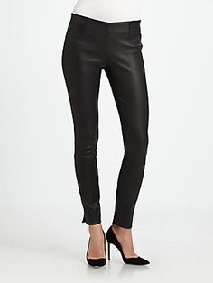 Theory Belisa Danish Leather Pant