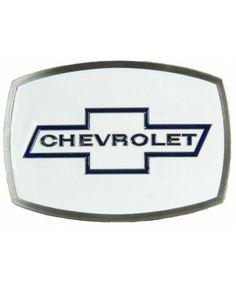 Western Express White Chevrolet Belt Buckle