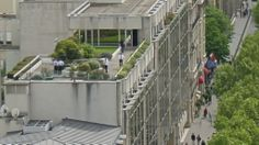 Paris roof garden, spotted from the top of the Arc de Triomphe