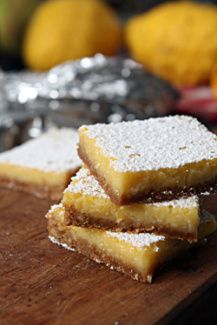 lemon bar recipe with gingersnap crust