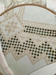 This Pin was discovered by Zrn Embroidery Designs, Types Of Embroidery, Learn Embroidery, Hand Embroidery Stitches, Embroidery Techniques, Cross Stitches, Bookmark Craft, Drawn Thread, Hardanger Embroidery
