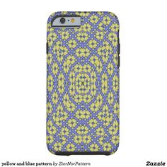 yellow and blue pattern tough iPhone 6 case