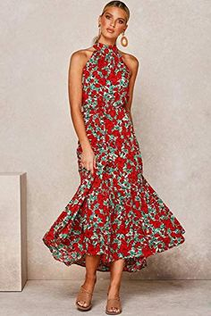 Red Midi Dress, The Dress, Vestidos Halter, Streetwear, Maxi Dress Wedding, Cheap Dresses, Long Dresses, Maxi Dresses, Summer Dresses For Women